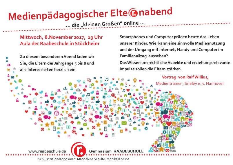 """medienpädagogischer elternabend am 8. november – …die """"kleinen, Einladung"""